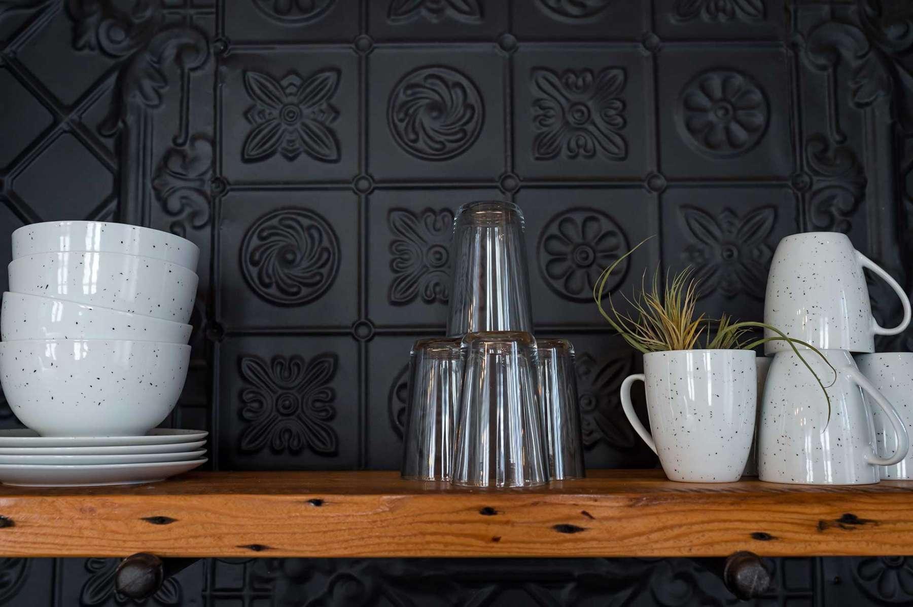 The Treasury Suite - Salvaged tin tiles
