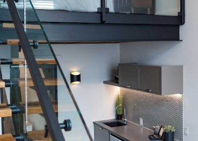 The nest suite loft staircase