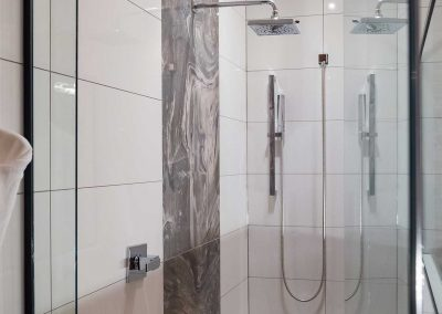 Vault suite glass shower